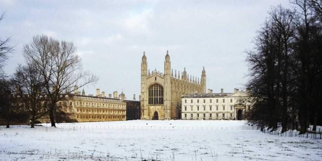 Kings College in winter